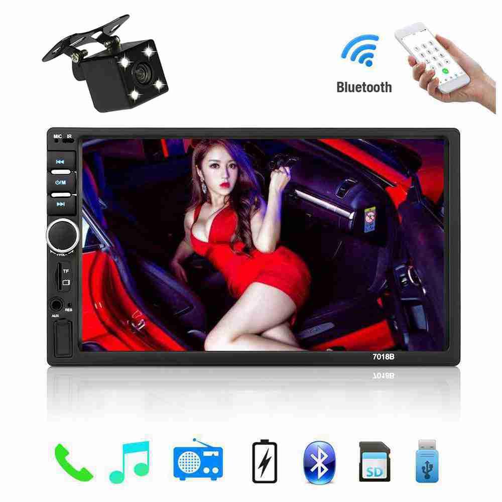 2 Din autoradio Bluetooth voiture Audio 7 ''écran tactile voiture musique lecteur vidéo Support caméra de recul AUX TF carte lecteur Audio