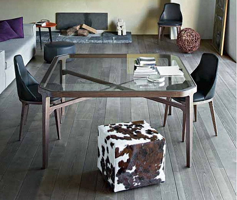 Nordic IKEA glass dining tables wood dining furniture ...