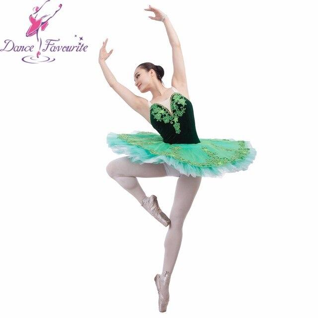 18ae532f6 Newest High end Women Child Green Classical Pancake Ballet Tutu ...