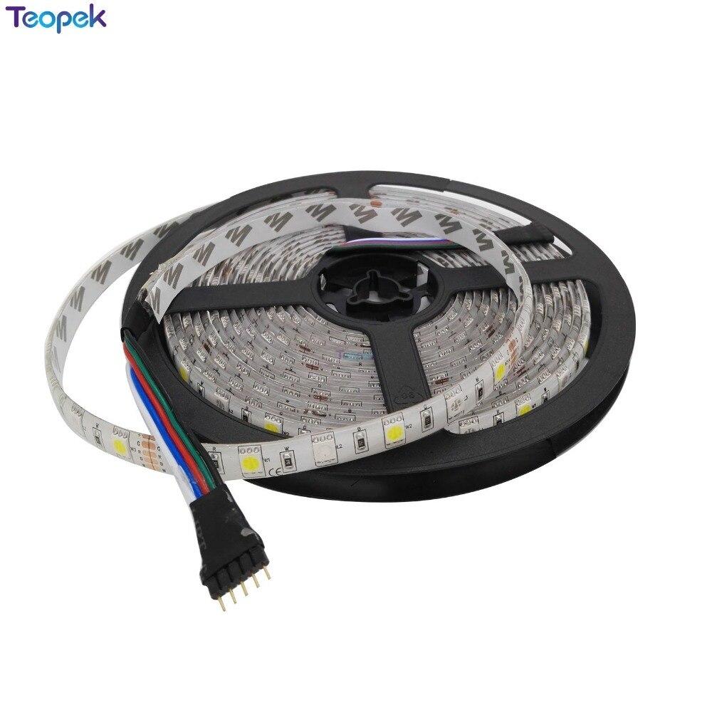 5M RGBW RGBWW RGB + (cald / rece / alb) LED Strip 300 LED-uri 60L / M - Iluminat cu LED