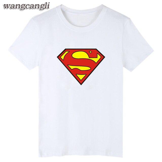 d110520678eac Superman Black T-shirt Men Famous Brand and Super Man Short Sleeve Men  Superhero T Shirt Short Sleeve in XXS Cotton Tees Batman