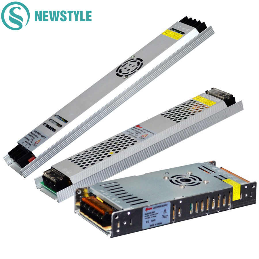 Ultra Thin LED Power Supply DC12V 5V 24V 200W 300W Led Driver AC190-240V Lighting Transformers for LED Strip Light