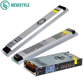 Ultra Sottile LED di Alimentazione DC12V 5 V 24 V 200 W 300 W Ha Condotto il Driver AC190-240V Trasformatori di Illuminazione per luce di Striscia del LED