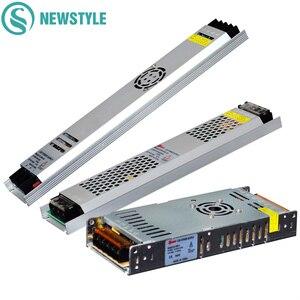 Image 1 - 超薄型 led 電源 DC12V 5 v 24 v 200 ワット 300 ワット led ドライバ AC190 240V 照明トランスフォーマー led ストリップライト