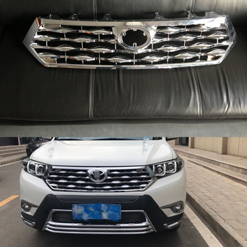 Fortoyota Highlander 2012 2014 Car styling ABS Front Grill Cover Trim Auto Replacement Parts 1PC