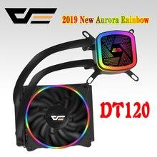 DarkFlash aigo корпус компьютер Процессор вентилятор T120/240 воды теплоотводы Integrated водяного охлаждения радиатора Intel/AMD Поддержка