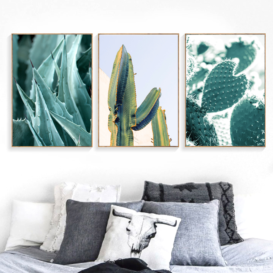 Cactus Flamingo Nordic Posters And Prints Wall Art Canvas Painting Wall Pictures For Living Room Scandinavian Home Decor in Painting Calligraphy from Home Garden