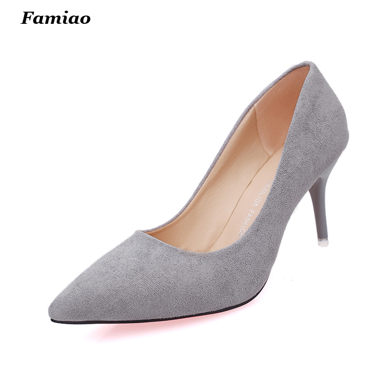 spring autumn Euramerican pointed toe thin high heels women's pumps OL shoes woman ladies