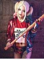 Harajuku Sudaderas Mujer Harley Quinn Suicide Squad Jacket Shirt Joker Arkham Batman Harley Quinn Cosplay Costume