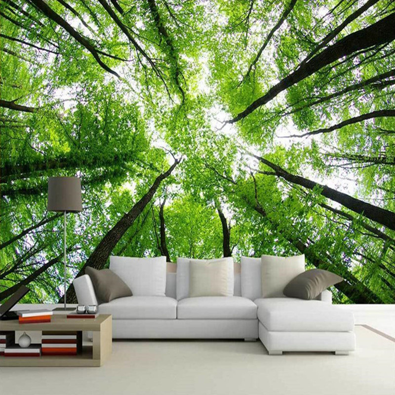 Custom 3D Photo Wallpaper Nature Forest Art Wall Painting Living Room TV Background Mural Home Decor Wallpaper Papel De Parede3d book knowledge power channel creative 3d large mural wallpaper 3d bedroom living room tv backdrop painting wallpaper