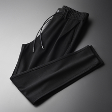 Minglu Soft Plus Size 4xl Luxury Gigging Fabric Black Elastic Waist Slim Fit Skinny