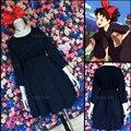 Kiki's Delivery Service Kiki Cosplay Dress Party Cos Costume Full Set Dress+Headwear+Bag