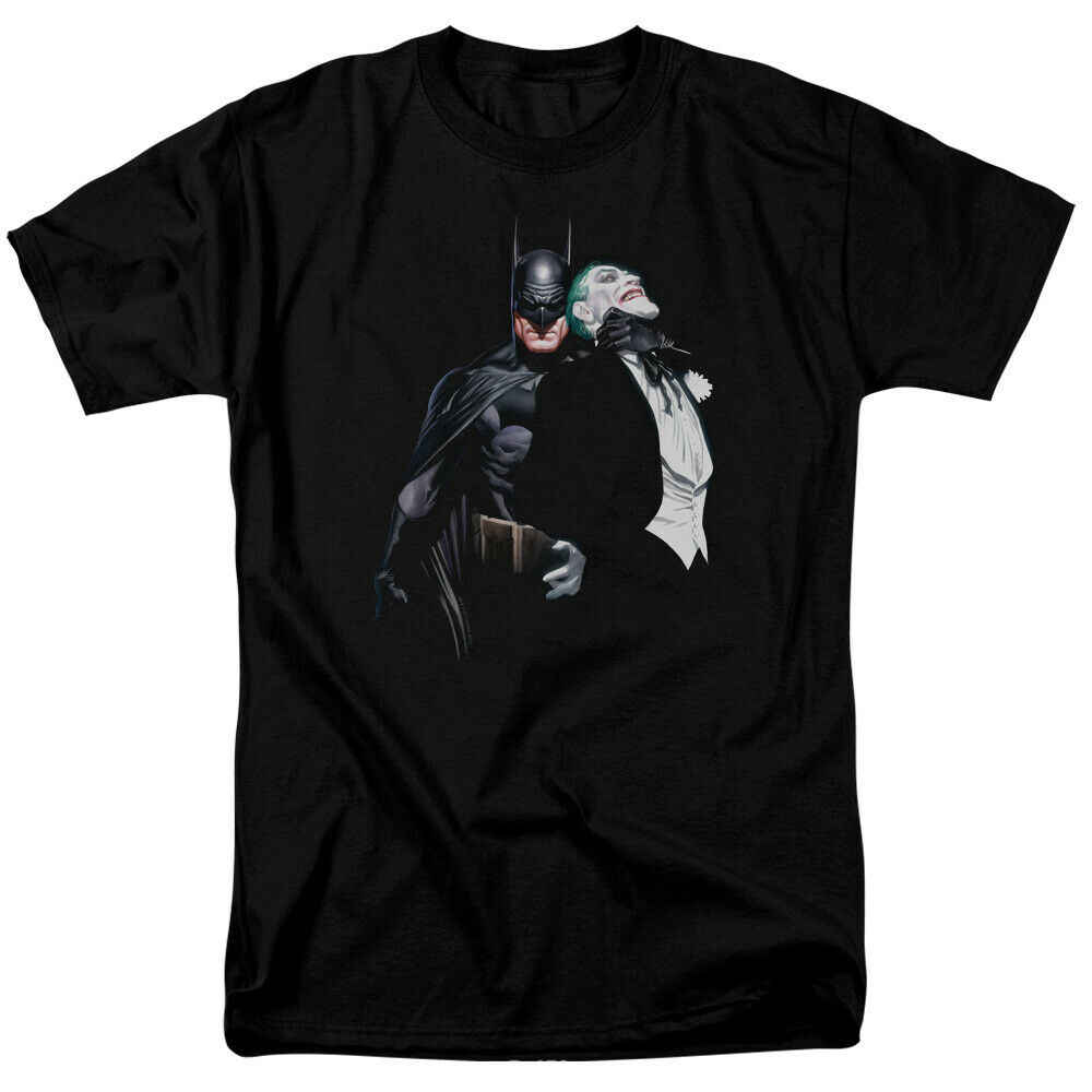 Бэтмен Джокер дроссель DC Comics лицензированный для мужчин футболка хип хоп Забавные футболки