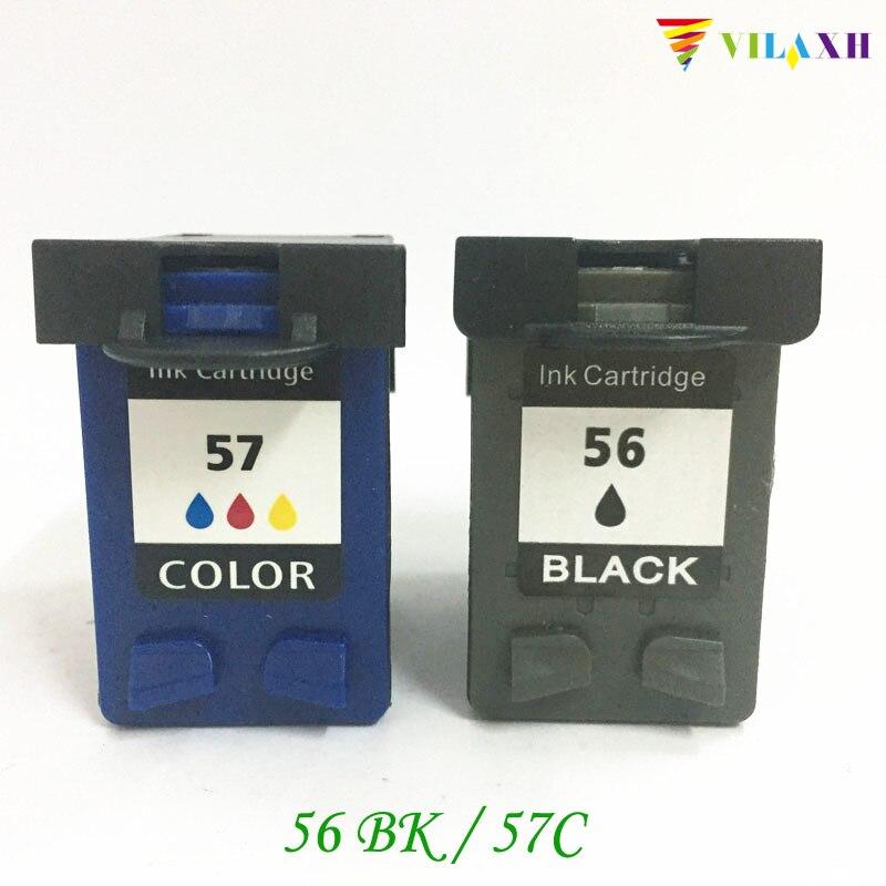 vilaxh 56 57 Kompatibler Tintenpatronenersatz Für HP 56 57 für PSC - Büroelektronik - Foto 1