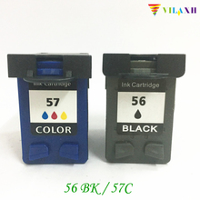 2 Pcs Compatible Ink Cartridges For HP 56 57  For HP Deskjet 450 450cbi 450ci 450wbt F4140 F4180 5150 5550 Printer j7934a j7934g for hp 620n jetdirect 10 100tx 5200 5550 9050 printer server card