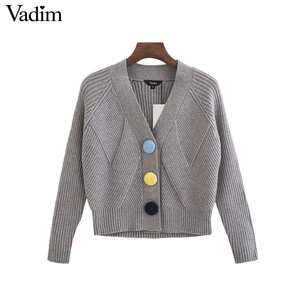 641907f2914 Vadim women knitted cardigans long sleeve sweater tops
