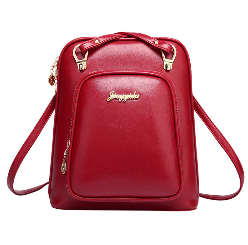 2017 NEW Fashion Brand PU Leather Backpack Women Backpacks School Bags For Teenage Girls Preppy Style Shoulder Back Pack
