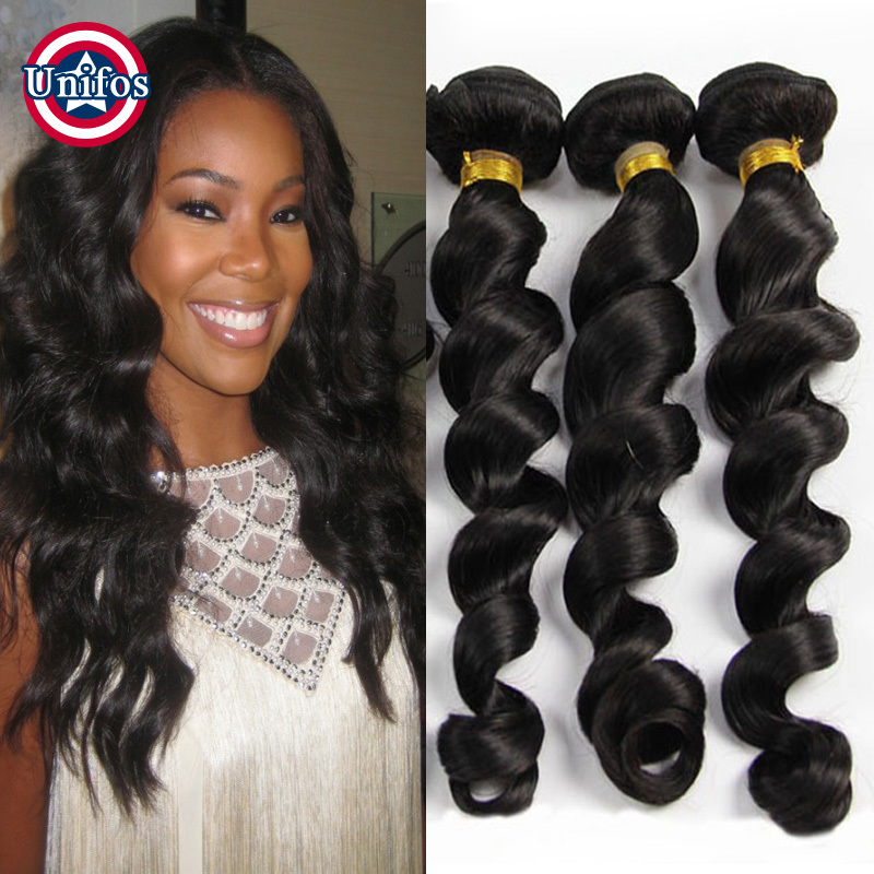 Indian loose wave 3pcs natural hair extensions 100 percent real indian loose wave 3pcs natural hair extensions 100 percent real human hair weave indian virgin hair raw indian hair loose curls in hair weaves from hair pmusecretfo Images