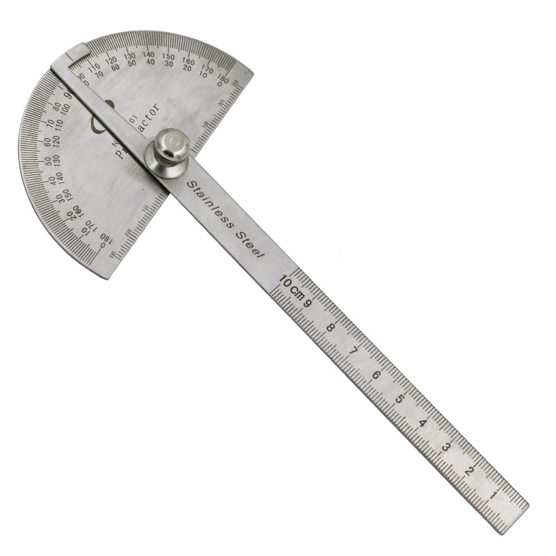 New Style Stainless Steel Protractor Angle Finder Measuring Round Head General Tool Craftsman Rule Ruler Machinist Goniometer title=