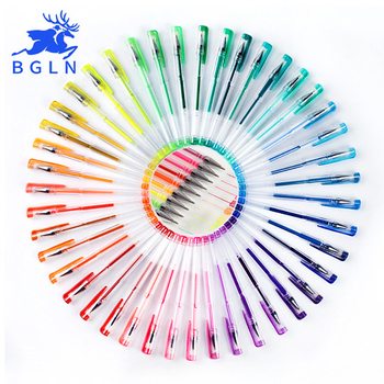 100Colors Gel Pens Set Refills Gel Ink Pen Metallic Pastel Neon Glitter Sketch Drawing Color Pen Art Stationery 1
