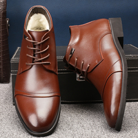 Genuine Leather Men Winter Snow Boots Men S Formal Dress Shoes Man Ankle Boots Wedding Brogue
