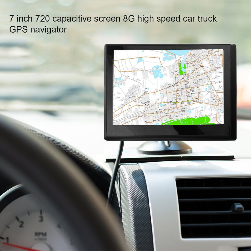 720 7 inch 8G+DDR128M Capacitive Screen GPS Navigator 800*480 HD Portable Car GPS Navigation FM Audio And Video Player gps навигатор lexand sa5 hd