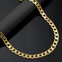 18k Gold Finish Jewlery Iced Out Hip Hop Mens Cuban Link Chains Necklace Long Bling Heavy