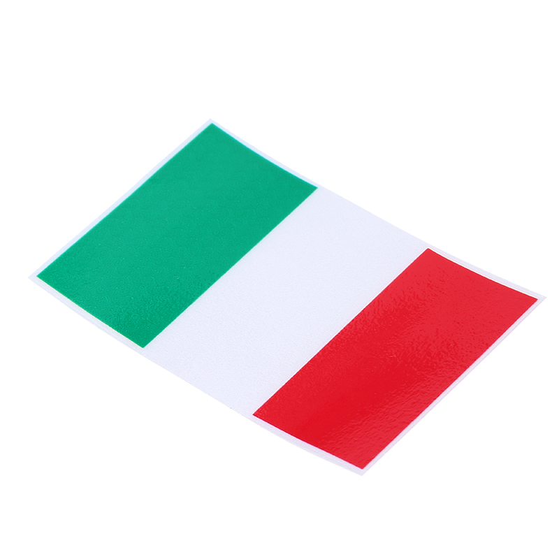 3 pieces car styling racing stripes stickers italian flag green red white color stripe decals motorcycle car decor sticker in car stickers from automobiles