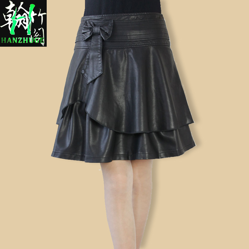 Online Shop free shipping Spring and autumn black short skirt bow ...