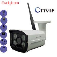 HD 1080P WiFi IP kamera kablosuz Onvif 720P güvenlik kamerası ev güvenlik gözetim mikro SD kart yuvası açık su geçirmez kamera