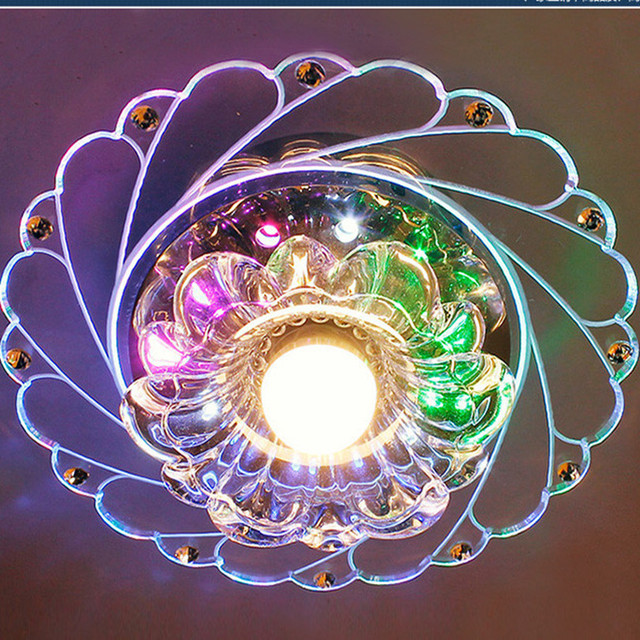 Modern Diamond Crystal Rgb Foyer Led Ceiling Chandelier Re Acrylic Dimmable Chandeliers Porch