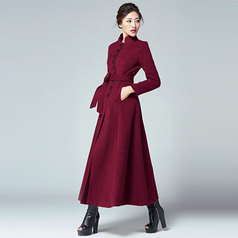 2015 Nouveau Manteau femme Slim Manteaux D hiver Manteau Femmes Long  Cachemire Femelle Pour Camperas De Mode Coupe Vent Veste Abrigos Mujer dans  Laine et ... d0c3a5533c75