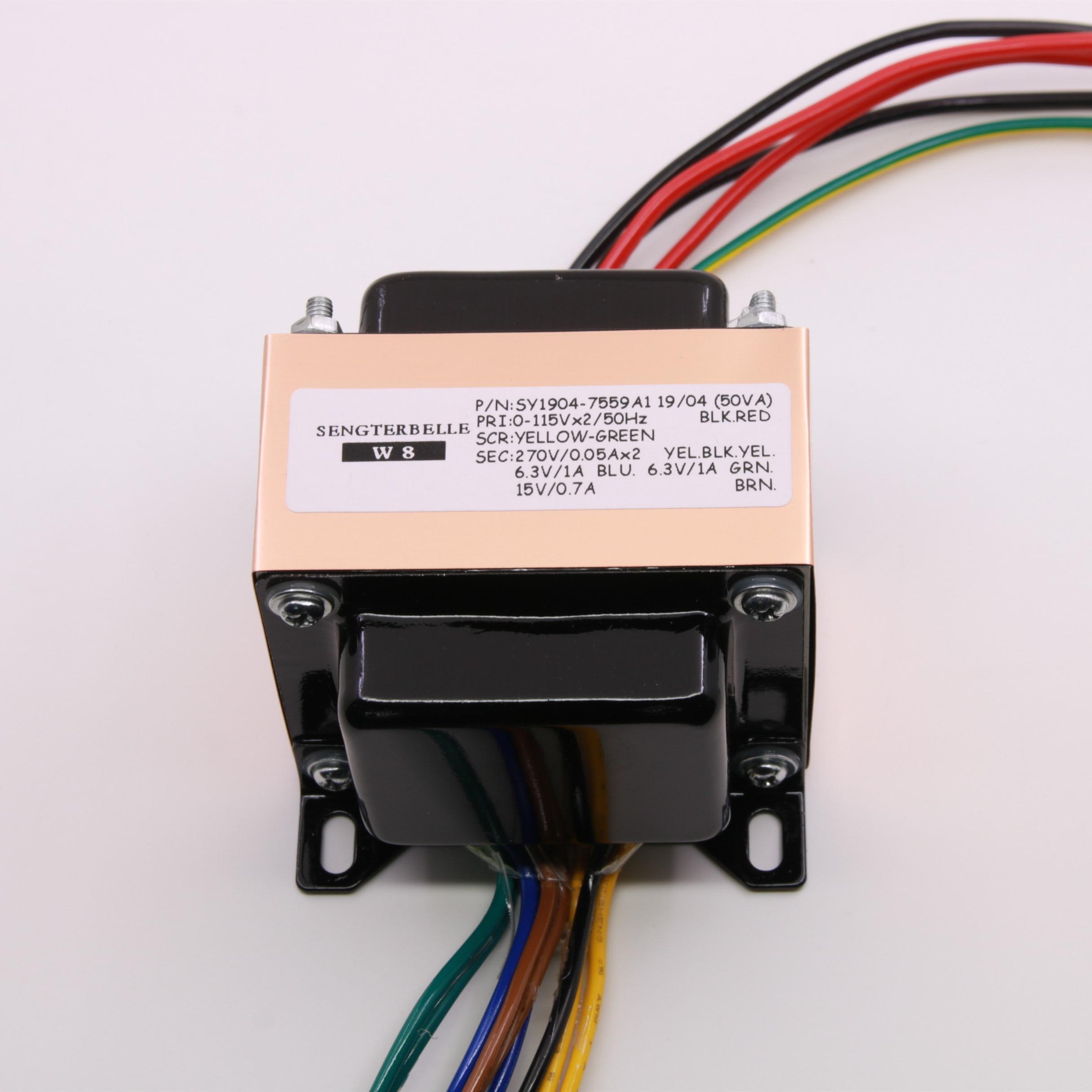 50VA 50W 270V 0 270V 6 3V 6 3V 15V Pure Copper Audio HiFi EI Transformer