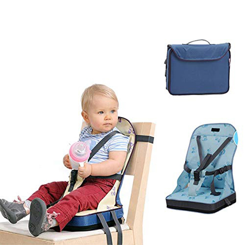 Useful Baby Dining Chair Bag Baby Portable Seat Oxford Water Proof Fabric Infant Travel Foldable Child Belt Feeding High Chair(China)