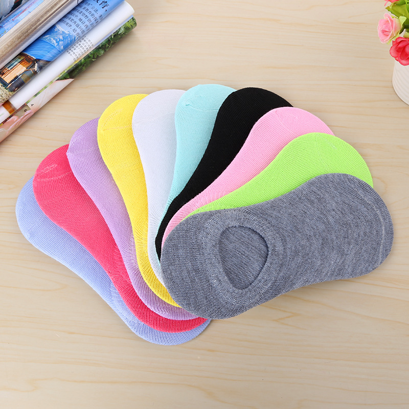 10 pairs/ Lot  Women Candy Color Socks  100% Cotton cute Boat Breathable Casual Ladies Funny Sock