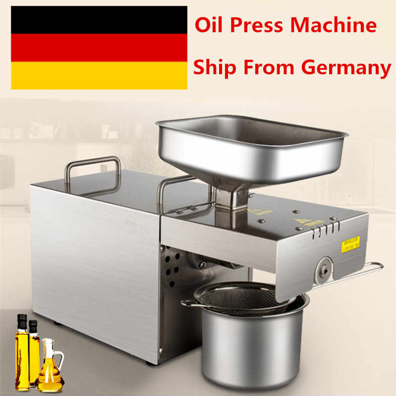 220V/110V Home Oil Low Temperature Press Machine Peanut Cocoa Soy Bean Oil Press Machine High Oil Extraction Rate