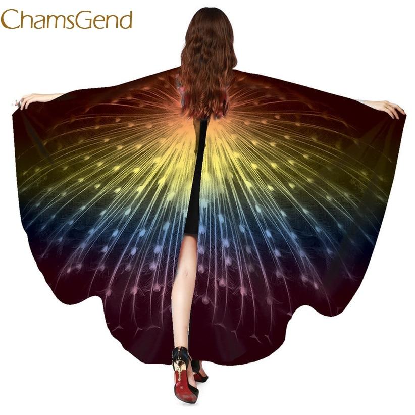 Heb Een Onderzoekende Geest Chamsgend Nieuw Ontwerp Pauw Vleugels Pashmina Shawl Nimf Pixie Poncho Vrouwen Kostuum Accessoire 70925 Drop Verzending In Veel Stijlen