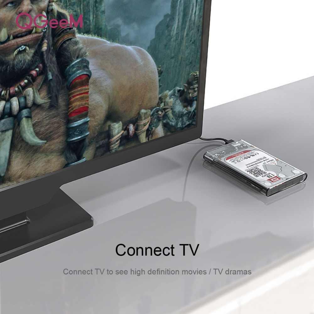 QGeeM HDD מארז 2.5 אינץ SATA ל-usb 3.0 SSD מתאם דיסק קשיח כונן תיבת עבור Samsung Seagate SSD 1 TB 2 TB HDD החיצוני Case