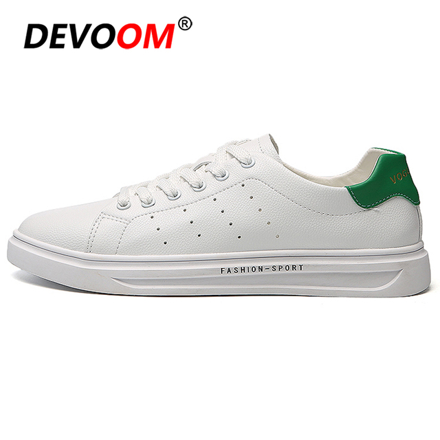 d33e80a6b4a Men Casual Shoes Fashion Super Star White Shoes Men Leather Sneakers 2019  Spring Summer Male Footwear Heren Schoenen Size 44