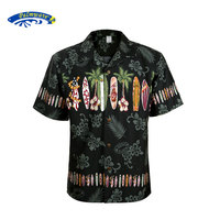 2018 New Summer Hawaiian Shirt Men US Size Plus Size Mens Short Sleeve Casual 100% Cotton Printing Hawaii Shirts A1396