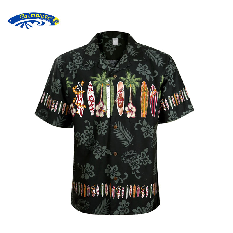2019 New Summer Hawaiian Shirt Men US Size Plus Size Mens Short Sleeve Casual 100% Cotton Printing Hawaii Shirts A1396-in Casual Shirts from Men's Clothing