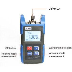 Image 2 - Handheld TL 510 mini medidor de potência de fibra óptica com sc fc interface medidor de potência do laser fibra óptica tester