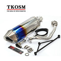 Motorcycle Exhaust Modified  Yoshimura Exhaust Muffler Pipe For kawasaki CBR250 CB400 CB600 YZF with Middle Pipe