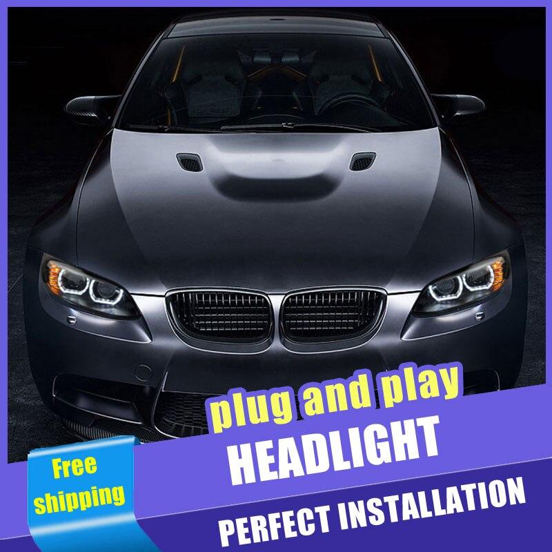 2PCS Car Style LED headlights for BMW M3 e92 e93 2008 2013 for M3 head lamp LED DRL Lens Double Beam H7 HID Xenon bi xenon lens - 6