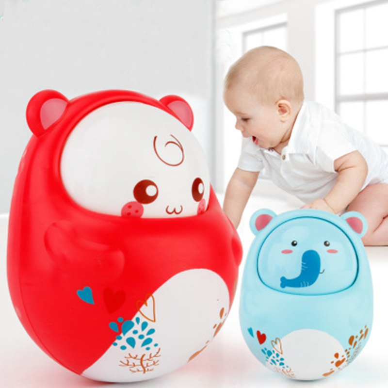 Baby Rattles Nodding Tumbler Doll Baby Toys Sweet Bell Music Roly-poly Learning Education Toys Gifts Baby Bell Baby Toys baby toys
