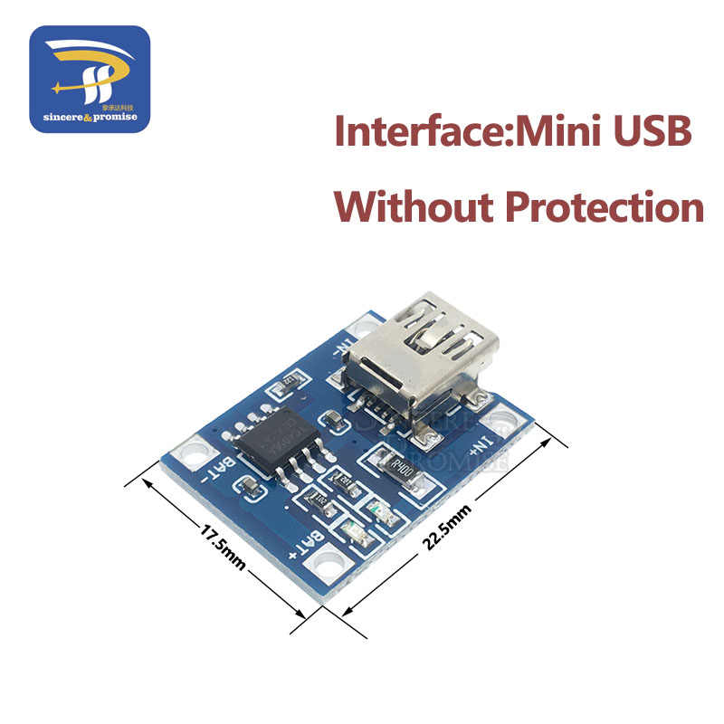 Mini Micro Type-c USB 5V 1A 18650 TP4056 Lithium Batterij Oplader Module Opladen Board Met Bescherming Dual functies 1A Li-Ion