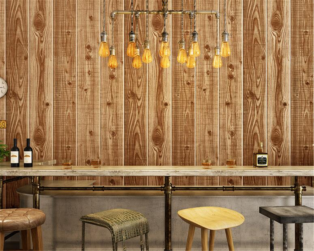 ФОТО  Beibehang floor wood grain wallpaper classical wood wallpaper warm and simple study TV background .wallpaper for walls 3 d