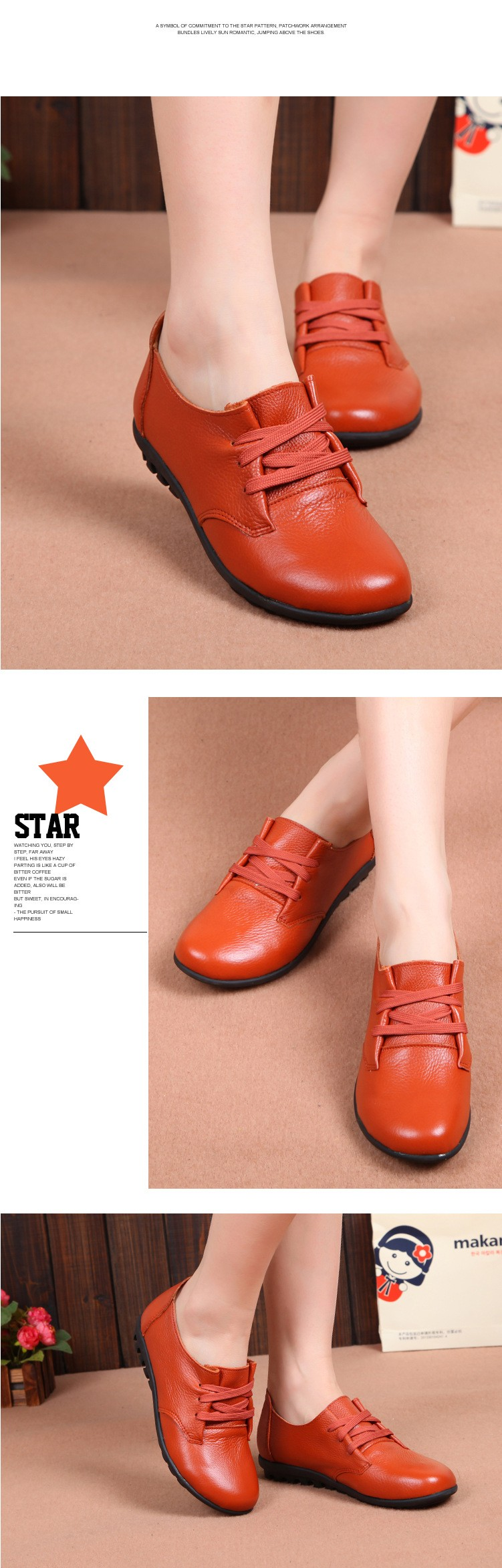 women shoes new genuine leather mother shoes casual lace up flats shoes woman moccasins ballets flats zapatas mujer 2016 DT188 (5)
