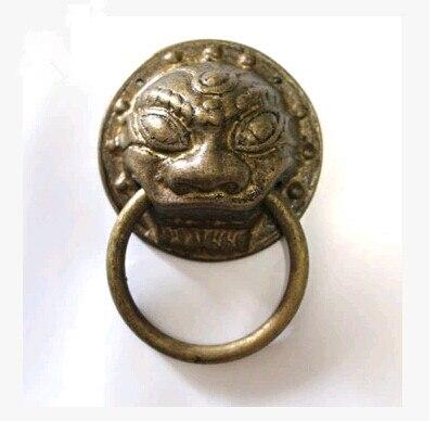 60mm Chinese antique bronze door knocker copper drawer handle large lion  head door handle DH- - 60mm Chinese Antique Bronze Door Knocker Copper Drawer Handle Large