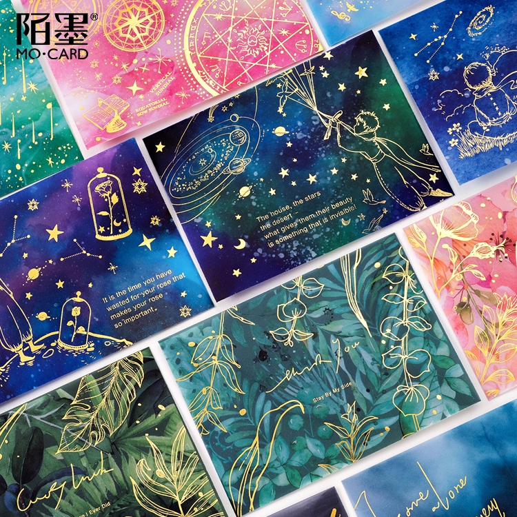 3 Pcs/pack Le Petit Prince Flower Planet Translucent Envelope Message Card Letter Stationary Storage Paper Gift 11*15cm